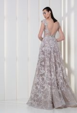 Cap Sleeve Illusion V-neck A-line Wedding Dress by Tony Ward - Image 2