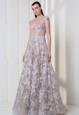 Cap Sleeve Illusion V-neck A-line Wedding Dress by Tony Ward - Image 1