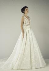 Sleeveless Beaded Lace V-neck A-line Wedding Dress by Tony Ward - Image 1
