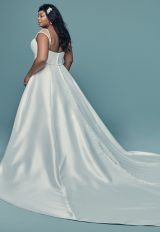 Strapless Sweetheart Neck Silk Ball Gown Wedding Dress by Maggie Sottero - Image 2