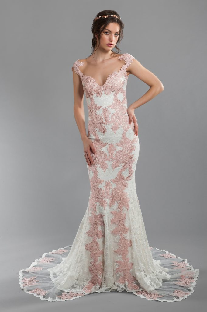 olvis-rose-and-ivory-lace-sheath-wedding-dress-with-illusion-back-and-sweetheart-neckline-with-cap-sleeves-33850637