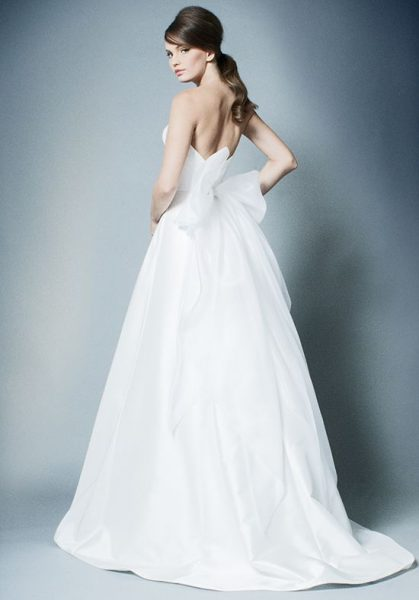 Simple Strapless A-line Wedding Dress by ROMONA New York - Image 2