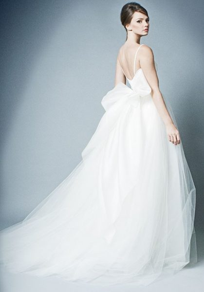 Spaghetti Strap Lace And Tulle Ball Gown Wedding Dress by ROMONA New York - Image 2