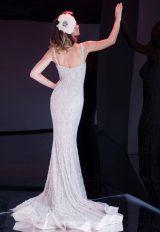 Fully Beaded Sleeveless Sheath Wedding Dress by Stephen Yearick - Image 2