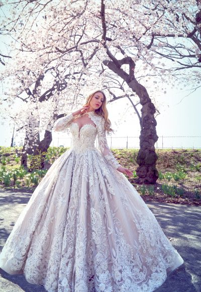 Embellished Ball Gown Wedding Dress by Ysa Makino