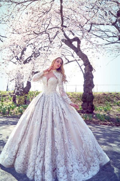 Embellished Ball Gown Wedding Dress by Ysa Makino - Image 1