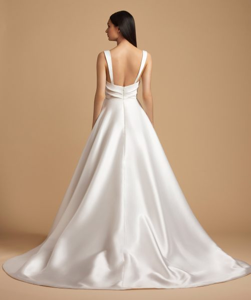 Ruched Sweetheart Bodice Mikado Ball Gown Wedding Dress by Allison Webb - Image 2