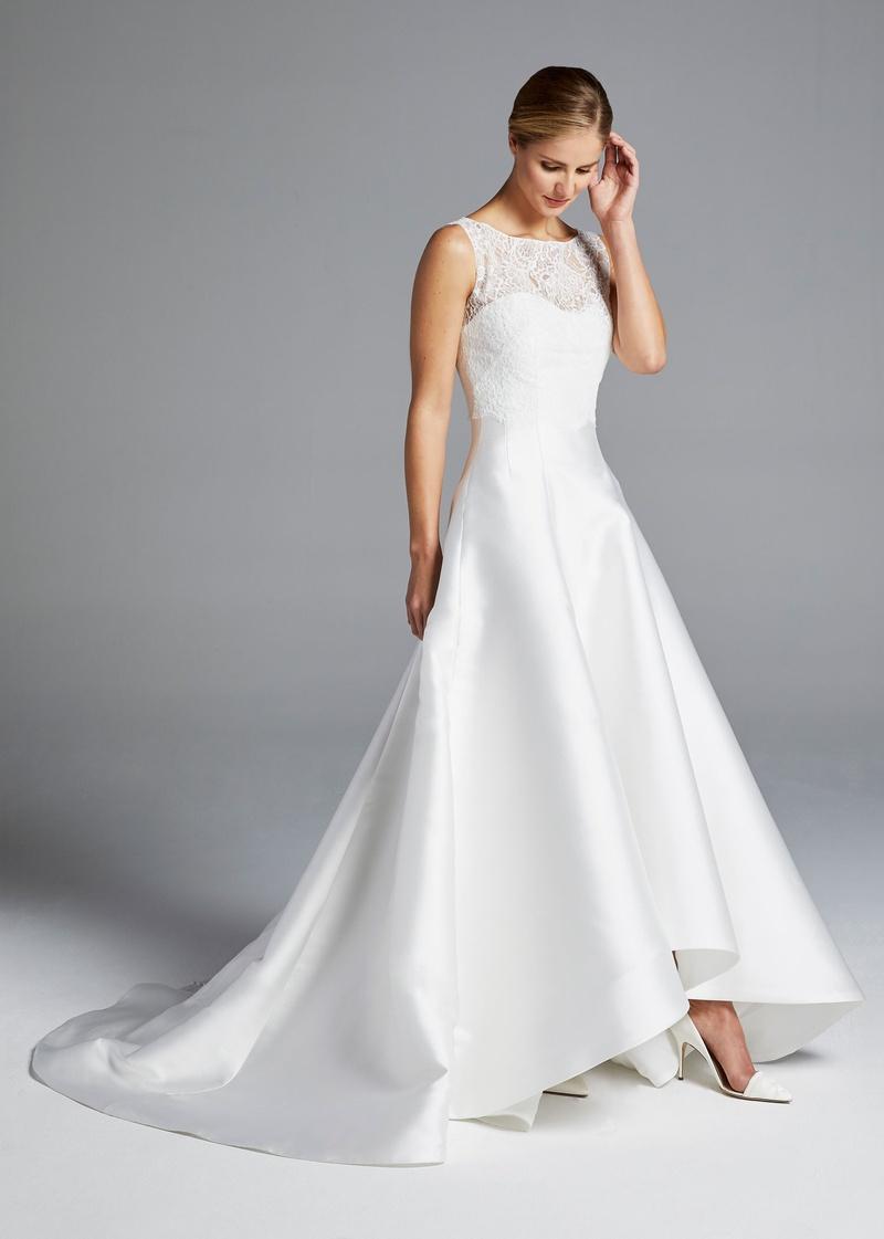 Illusion Sweetheart Neckline Lace Bodice A-line Silk Wedding Dress ...