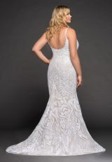 Fully Beaded Spaghetti Strap Fit And Flare Wedding Dress by BLUSH by Hayley Paige - Image 2