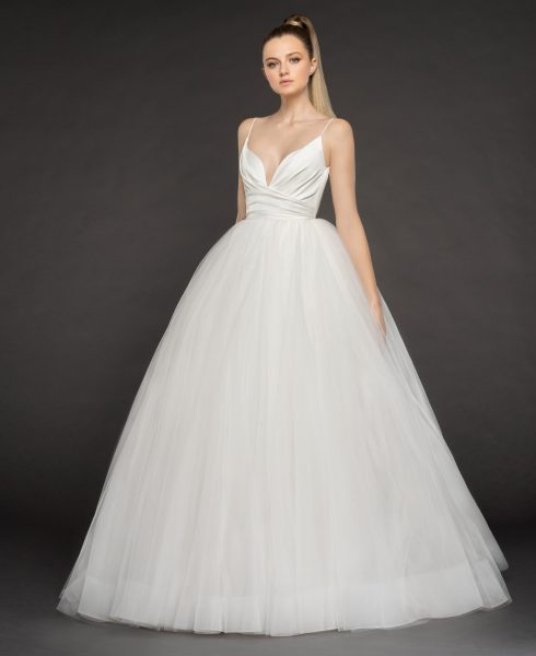 Straps Tulle Wedding Dress