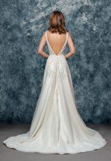 Sleeveless Beaded V-neck Bodice A-line Wedding Dress by Enaura Bridal - Image 2