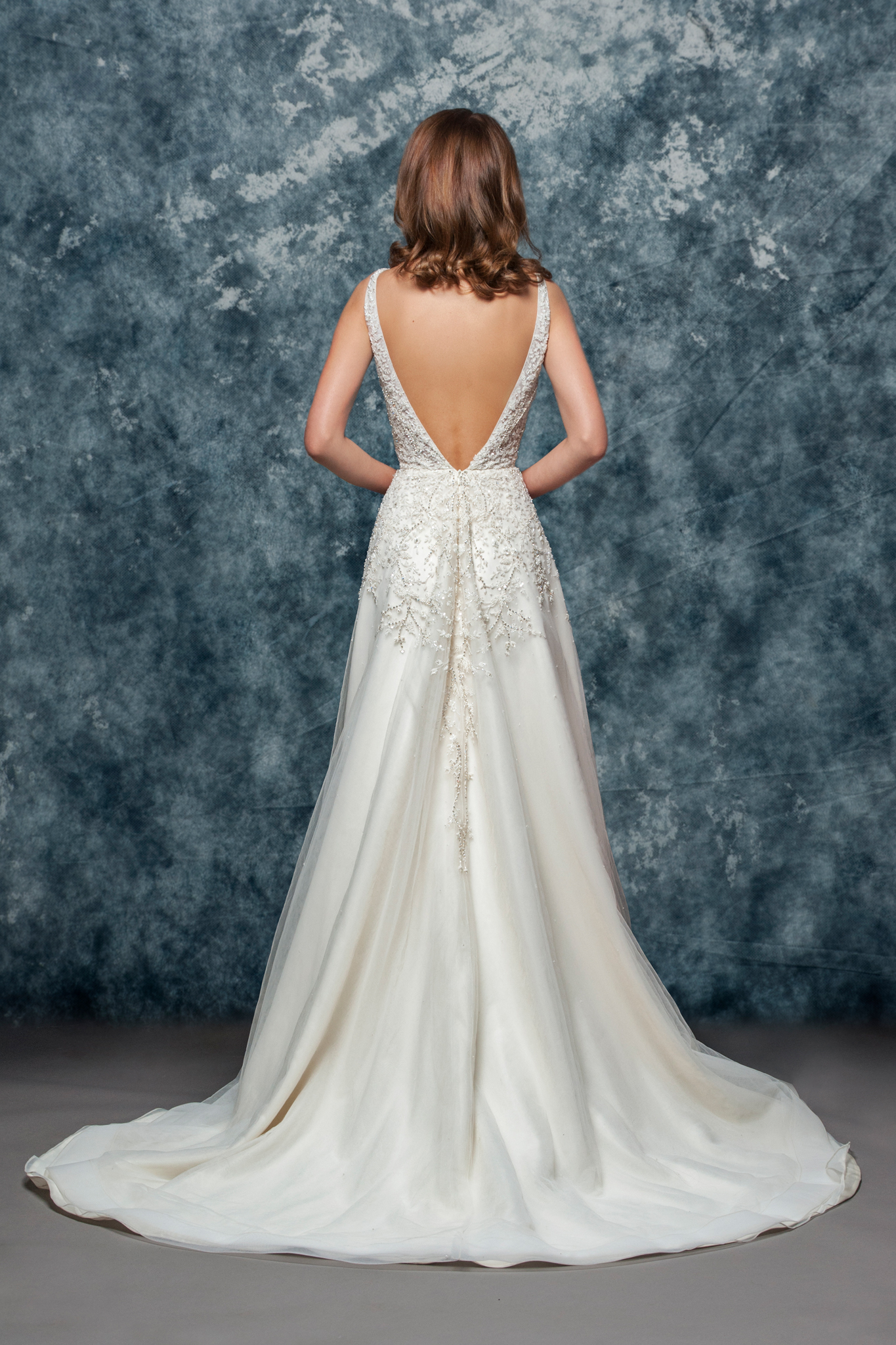Sleeveless Beaded V Neck Bodice A Line Wedding Dress Kleinfeld Bridal
