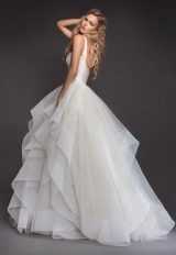 Sleeveless Bandage Bodice Horsehair Trip Skirt Ball Gown Wedding Dress by Hayley Paige - Image 2