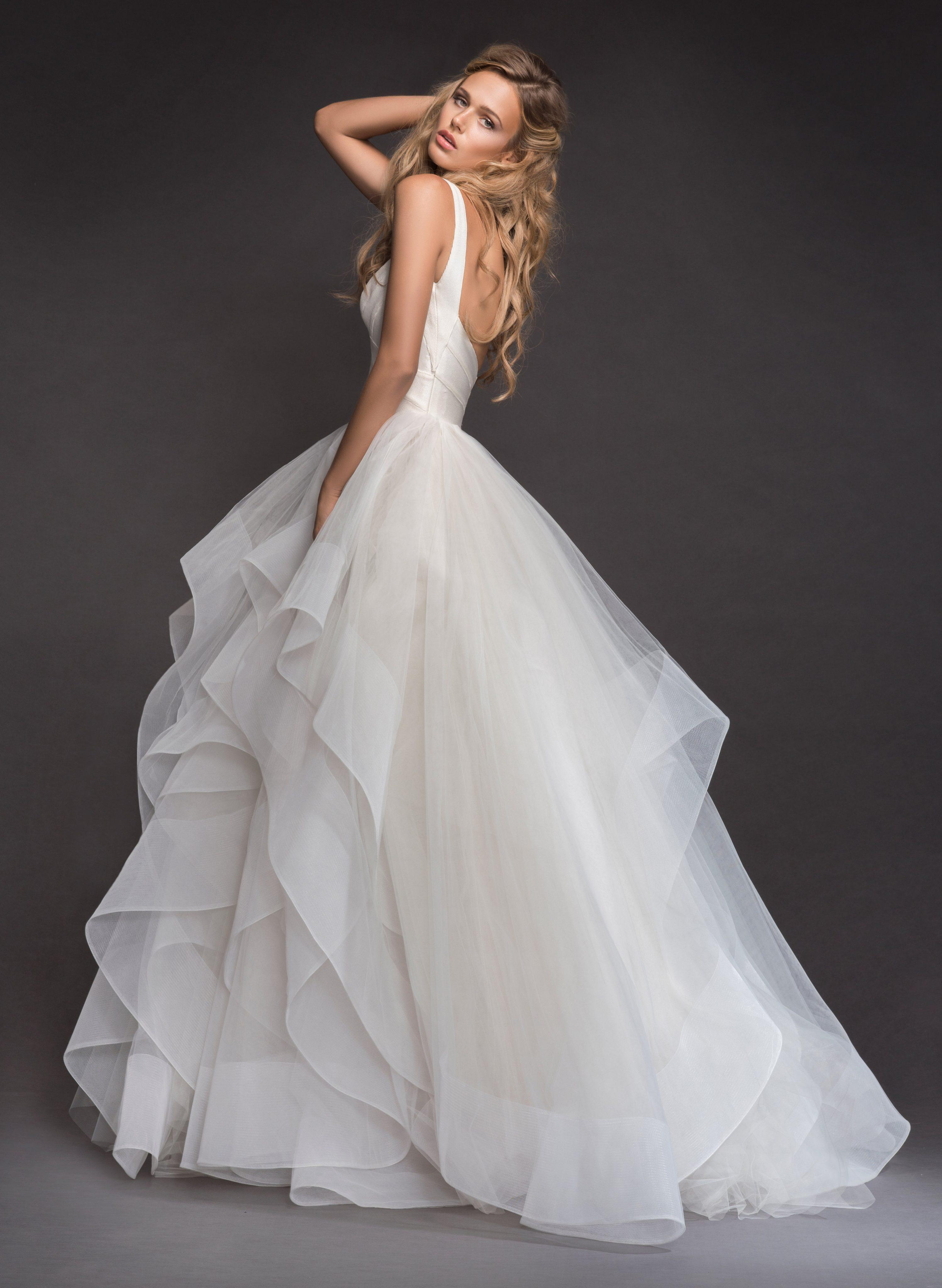Sleeveless Bandage Bodice Horsehair Trip Skirt Ball Gown Wedding ...