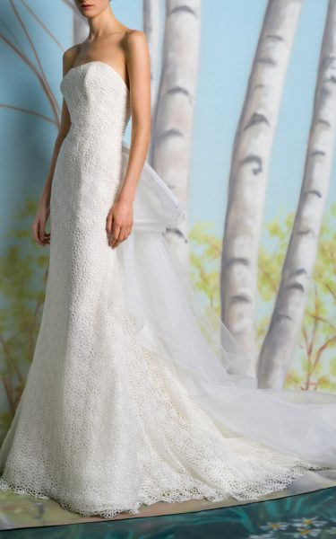 Straight Strapless Sheath Wedding Dress by Isabelle Armstrong - Image 1