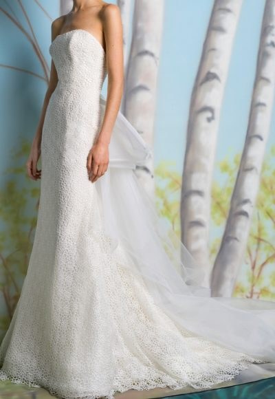 Straight Strapless Sheath Wedding Dress by Isabelle Armstrong