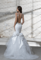 Sleeveless Illusion V-neck Lace Mermaid Wedding Dress by Love by Pnina Tornai - Image 2