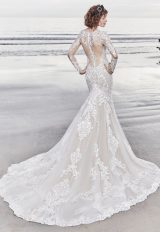 Illusion Long Sleeve Lace Fit And Flare Wedding Dress by Maggie Sottero - Image 2