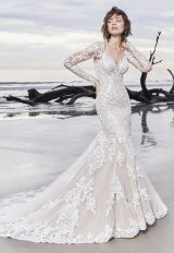 Illusion Long Sleeve Lace Fit And Flare Wedding Dress by Maggie Sottero - Image 1