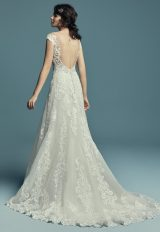 Off The Shoulder Scalloped Sweetheart Neckline Lace A-line Wedding Dress by Maggie Sottero - Image 2