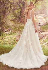 Sleeveless V-neck Lace Appliqued A-line Wedding Dress by Maggie Sottero - Image 2