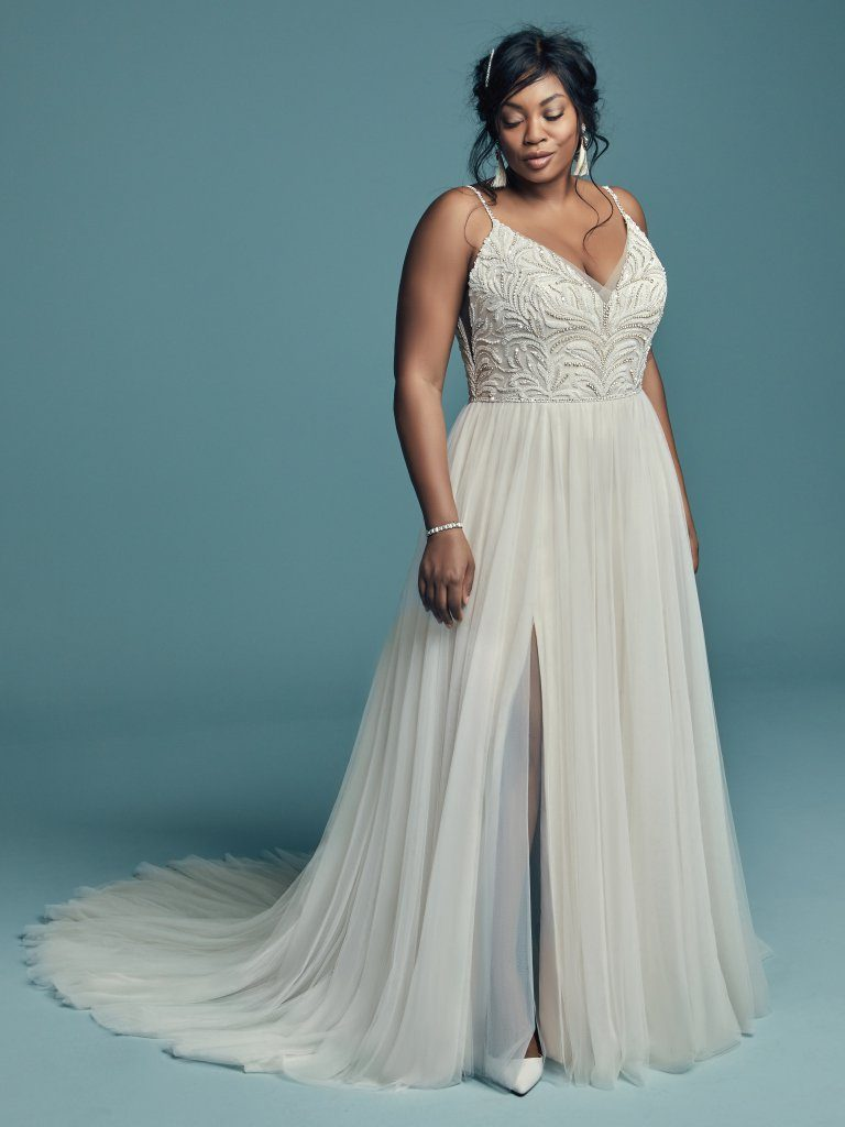 Kleinfeld Bridal carries over 200 plus size wedding dress styles for you to try on—here are our top 8 favorite plus size wedding dresses for the spring and summer 2019 wedding season! Maggie Sottero Style: 8MS694ACXS