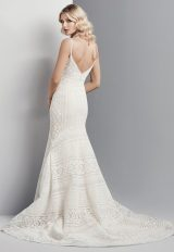Spaghetti Strap Eyelet Lace Fit And Flare Wedding Dress by Maggie Sottero - Image 2