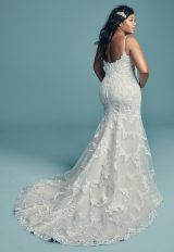 Spaghetti Strap Scoop Neckline Beaded Sheath Wedding Dress by Maggie Sottero - Image 2