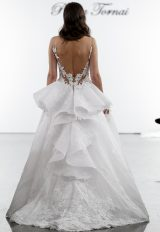 A-line Lace Embroidered Wedding Dress by Pnina Tornai - Image 2