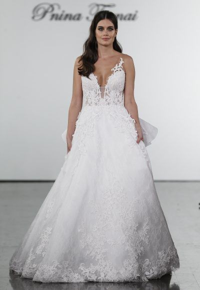 466bea399a Style  9MT013ACXS · A-line Lace Embroidered Wedding Dress by Pnina Tornai
