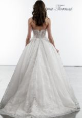 Ballgown With Sheer Bodice And Embroidered Floral Applique Skirt by Pnina Tornai - Image 2