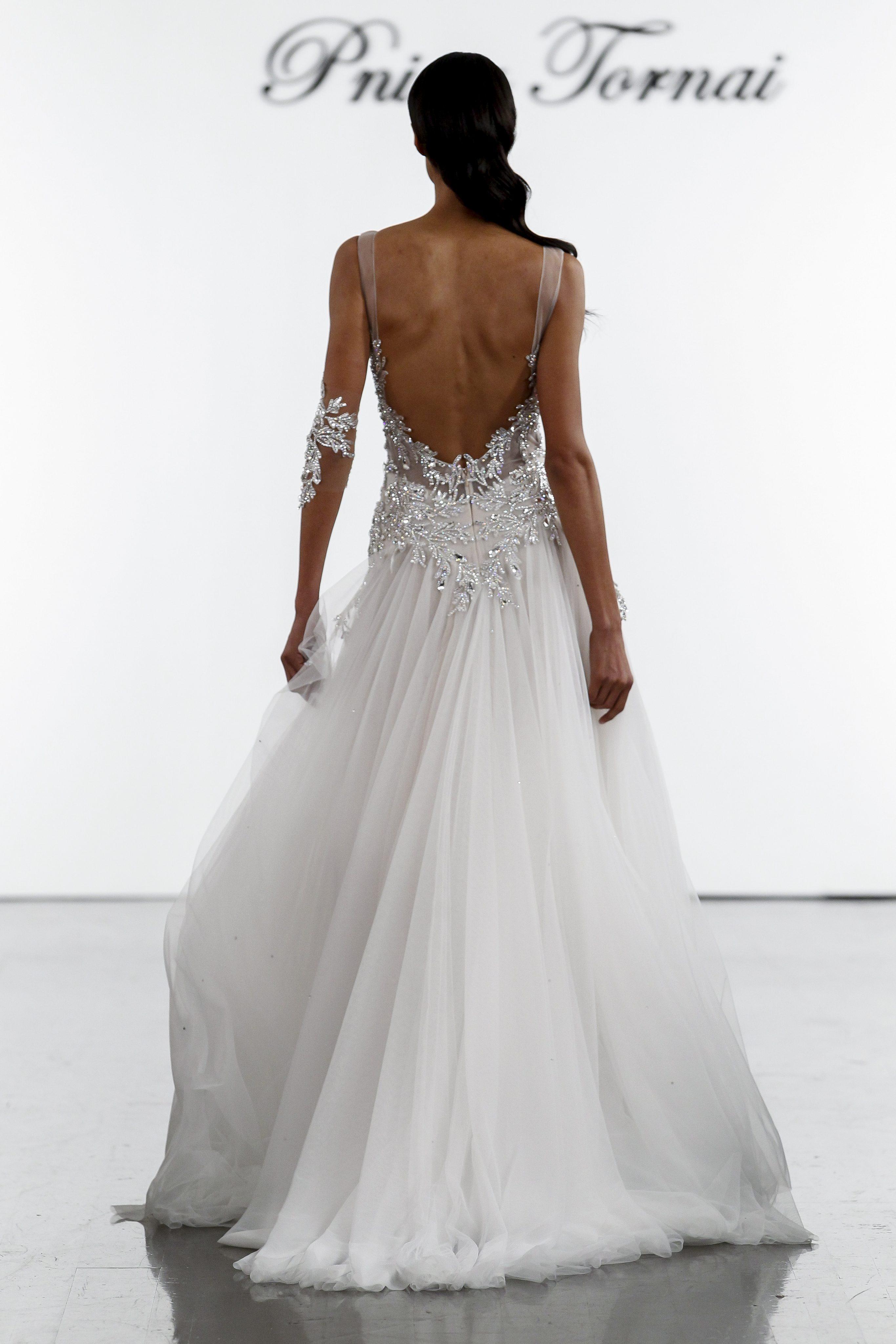 01716369 Crystal Bodice Sheath With Silk Tulle Skirt | Kleinfeld Bridal