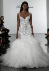Crystall Embellished Mermaid Wedding Dress With Tulle Skirt by Pnina Tornai - Image 1