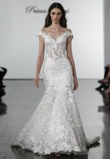 Floral Lace Off The Shoulder Mermaid Wedding Dress by Pnina Tornai - Image 1