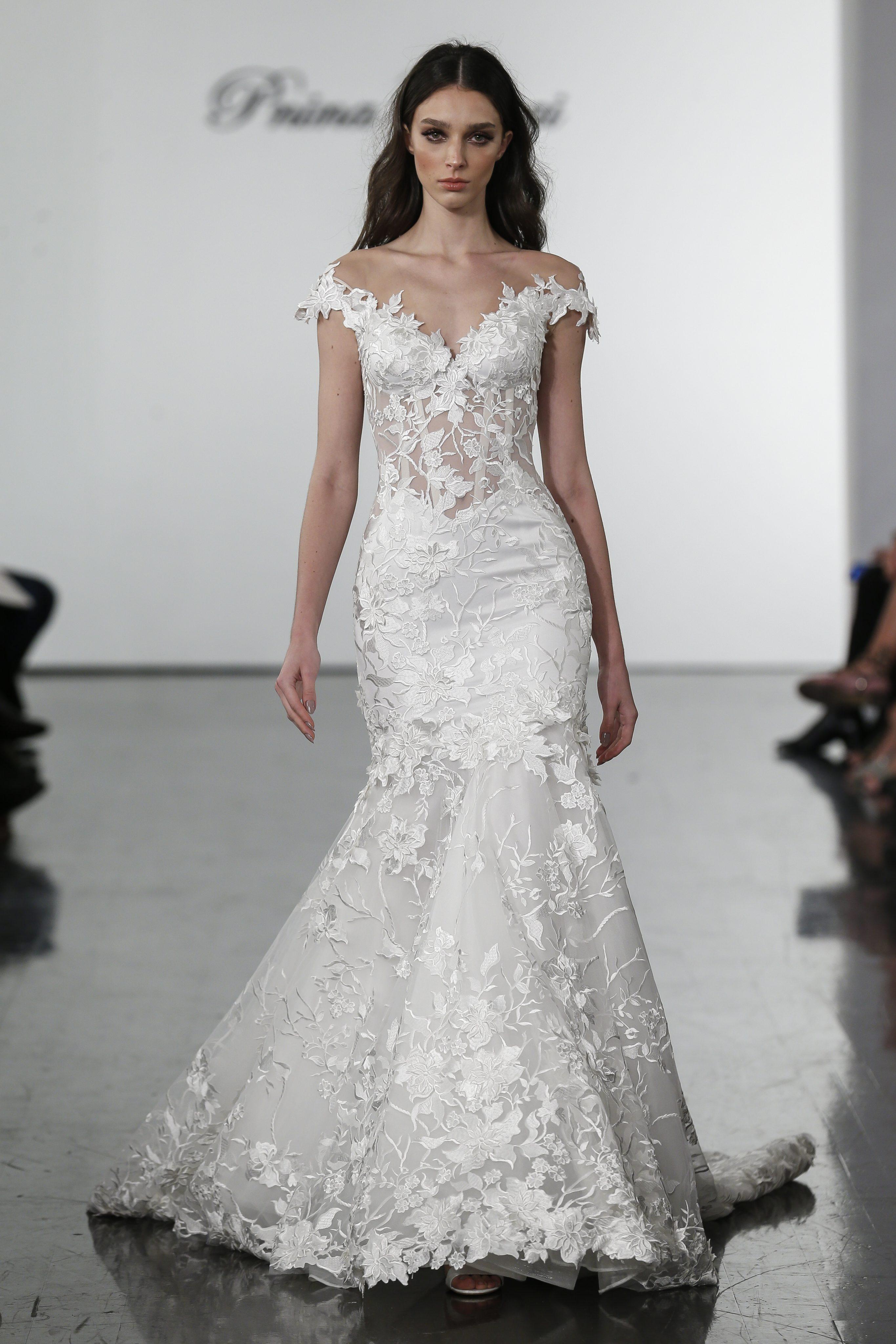 Floral Lace Off The Shoulder Mermaid Wedding Dress Kleinfeld Bridal