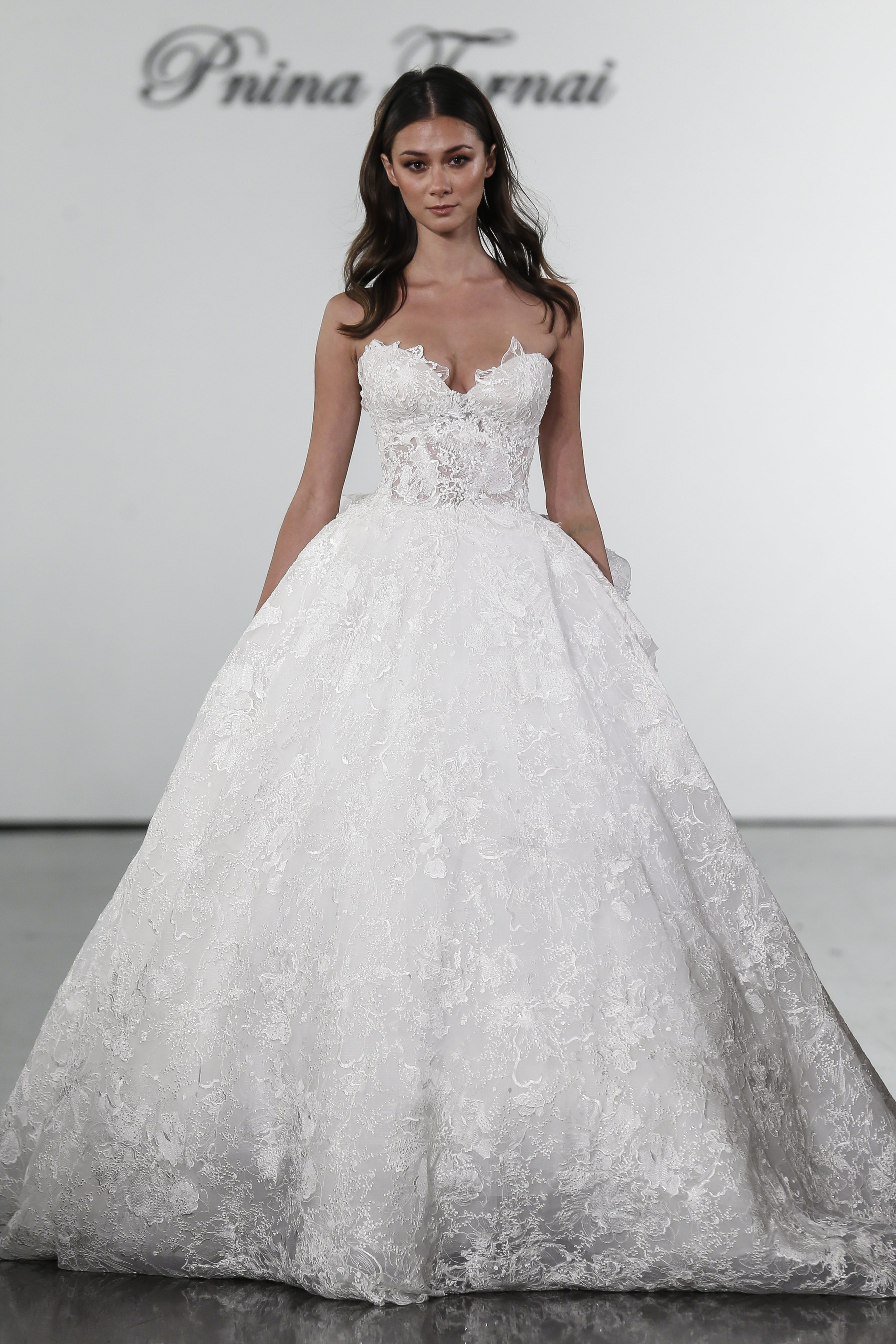ae95f575c3 Floral Lace Sweetheart Ball Gown Wedding Dress