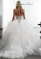 Layered Tulle Ball Gown Wedding Dress With Crystal Embellished Corset Bodice by Pnina Tornai - Image 2