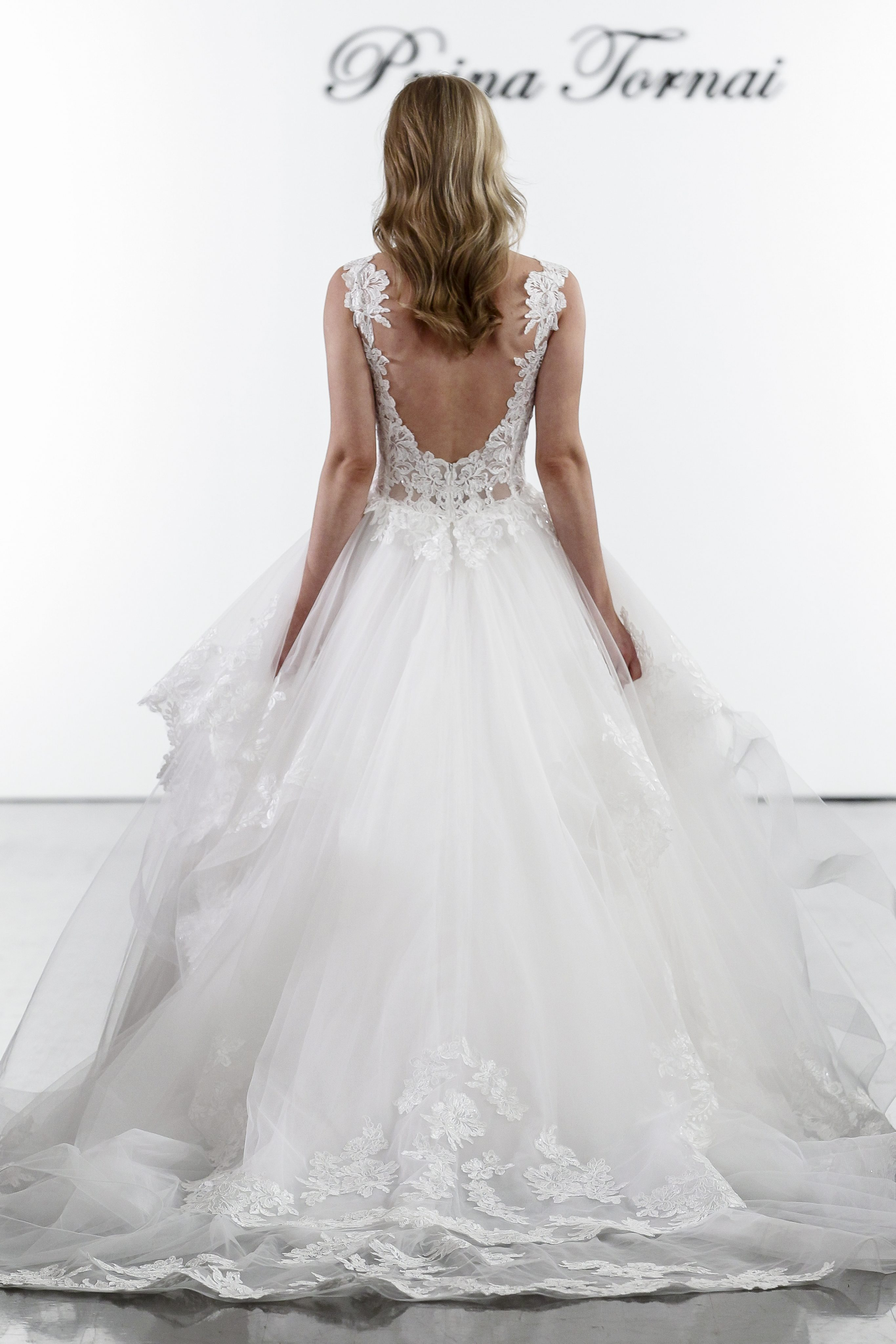 0667b7cfc Plunging V-neckline Layered Tulle Skirt Ball Gown Wedding Dress | Kleinfeld  Bridal