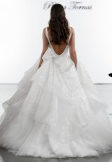 Sequin Layered Ball Gown Tulle Skirt  With Deep V-neckline by Pnina Tornai - Image 2