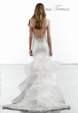Sequin Mermaid Wedding Dress With Ruffled Skirt by Pnina Tornai - Image 2