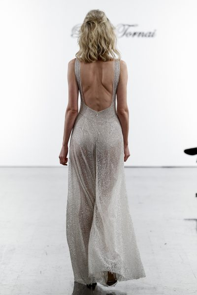 Sequin V-neck Jumpsuit by Pnina Tornai - Image 2
