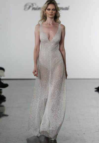 Sequin V-neck Jumpsuit by Pnina Tornai