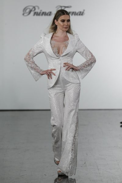 Sequined Pant Suit And Matching Jumpsuit by Pnina Tornai - Image 1