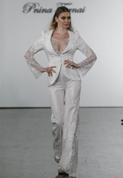 Sequined Pant Suit And Matching Jumpsuit by Pnina Tornai