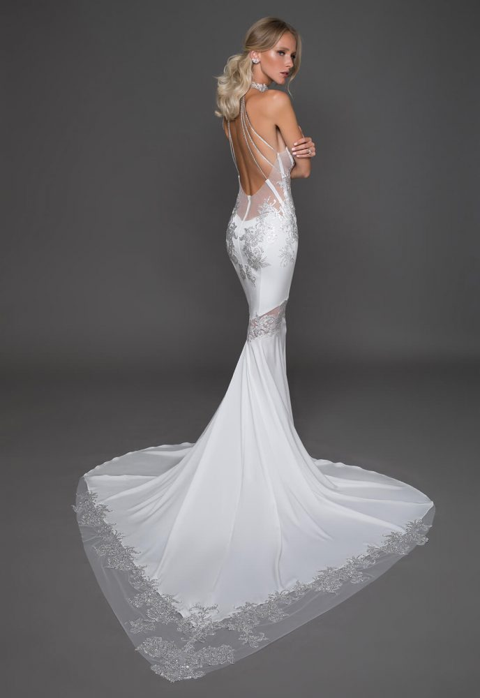 Sexy Sleeveless Sheath Wedding Dress by Pnina Tornai - Image 2