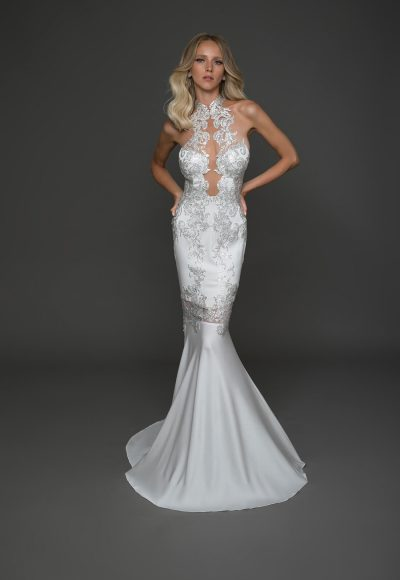 Sexy Sleeveless Sheath Wedding Dress by Pnina Tornai