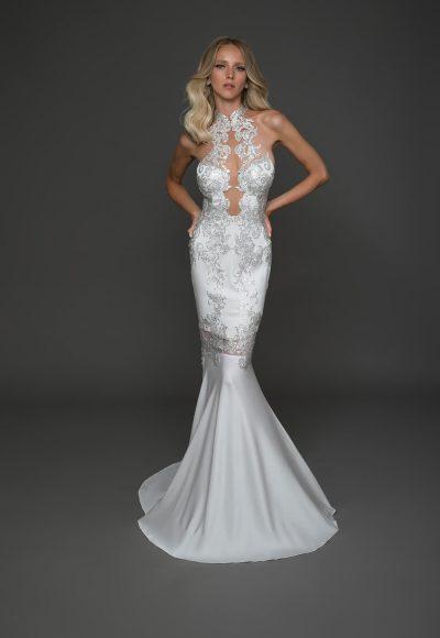 Sexy Sleeveless Sheath Wedding Dress by Pnina Tornai