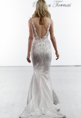 Sleeveless Sequined Sheath Wedding Dress by Pnina Tornai - Image 2