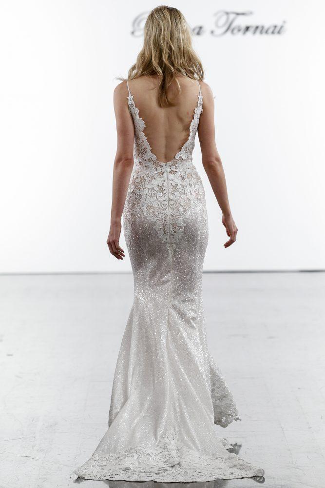 Sleeveless Sequined Sheath Wedding Dress by Pnina Tornai - Image 2
