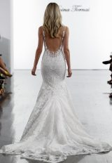V-neck Sequined Mermaid Wedding Dress by Pnina Tornai - Image 2
